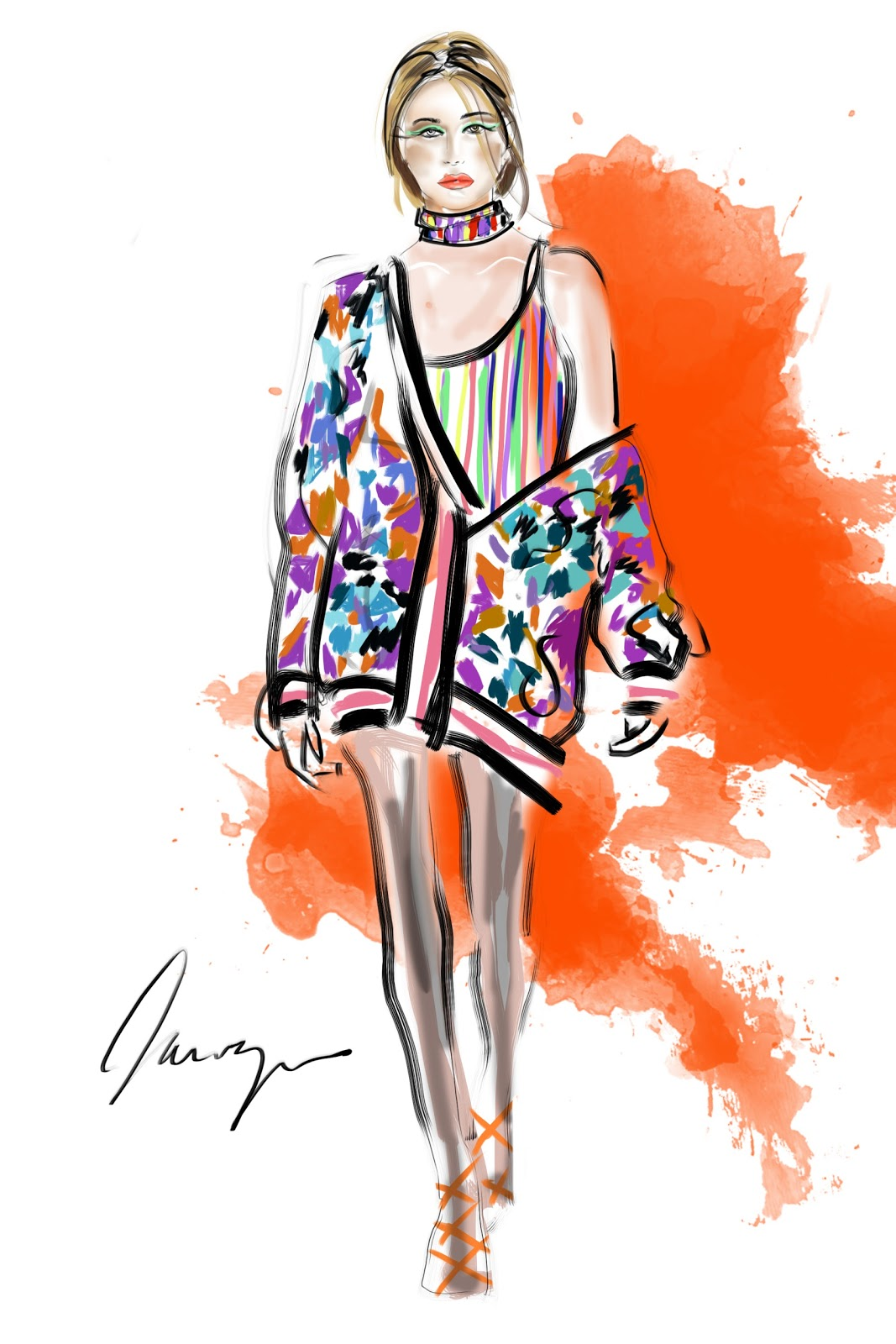 Fashion Illustration - TALIA ZOREF | FASHION ARTIST