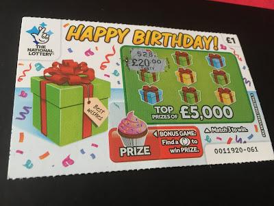 £1 Happy Birthday National Lottery Card