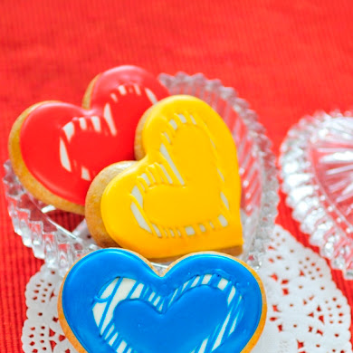 Modern Valentine's Day Heart Cookies Recipe