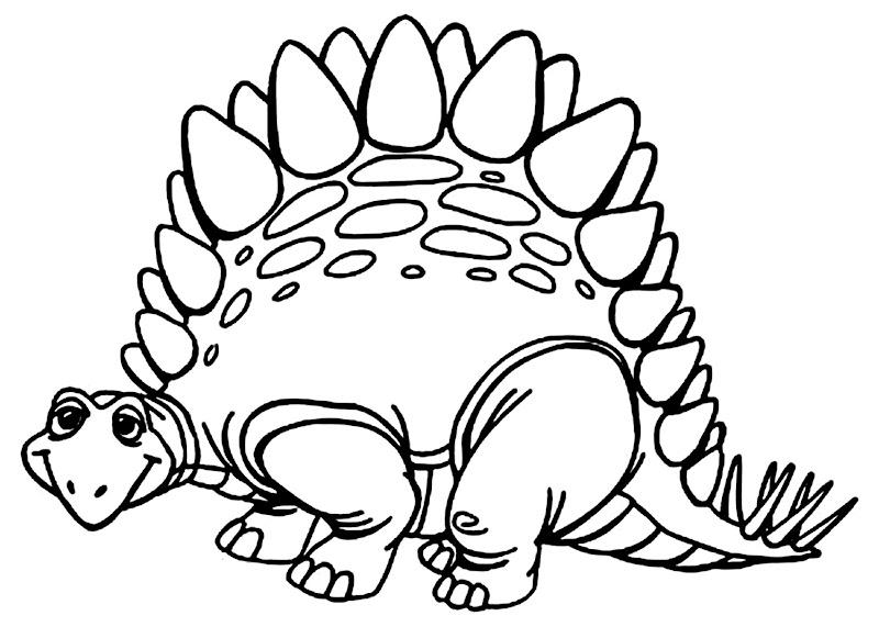 gambar mewarnai dinosaurus
