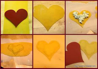 Σπιτικά Ραβιόλια με σάλτσα φασκόμηλου, καρδιά μου - Fresh Heart shaped ravioli with sage butter sauce
