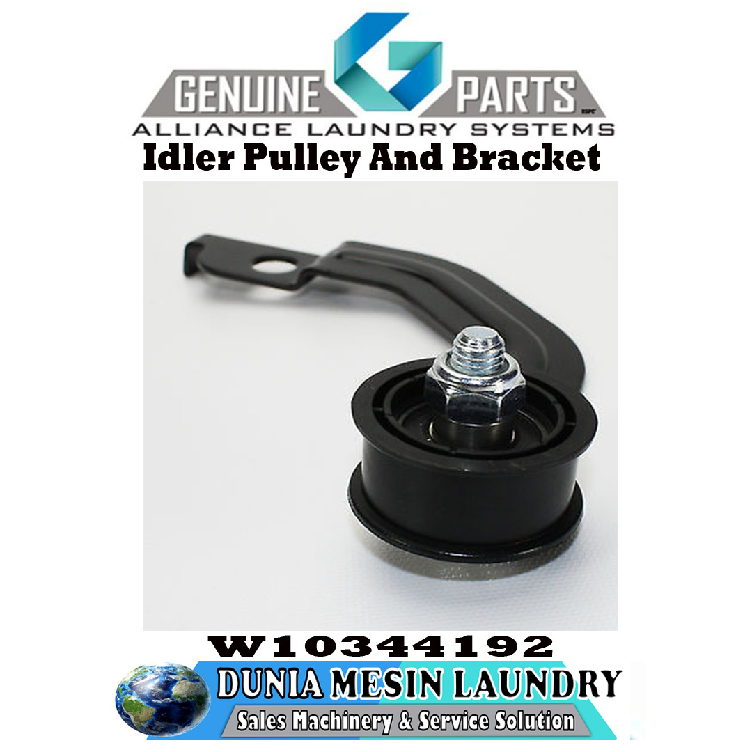 SPARE PARTS WHIRLPOOL, Idler Pulley And Bracket Original Genuine Parts Alliance Laundry System.