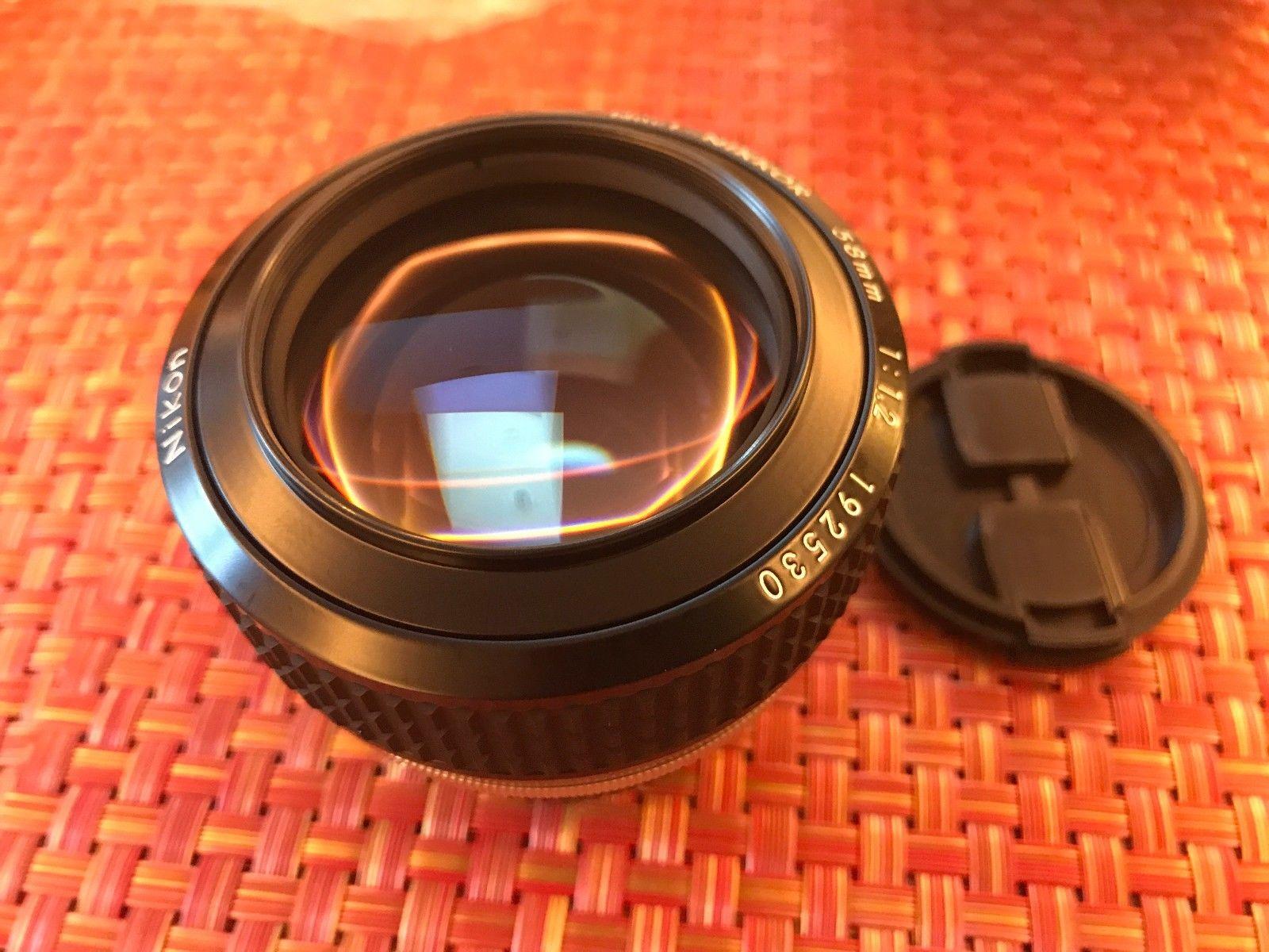 Nikon Noct-Nikkor 58mm f/1.2, вид спереди