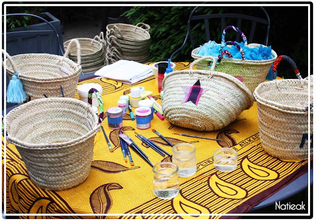 atelier de customisation de panier d'osier