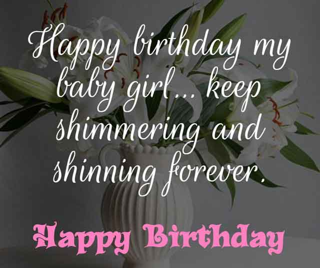 Happy birthday my baby girl… keep shimmering and shinning forever. ❞