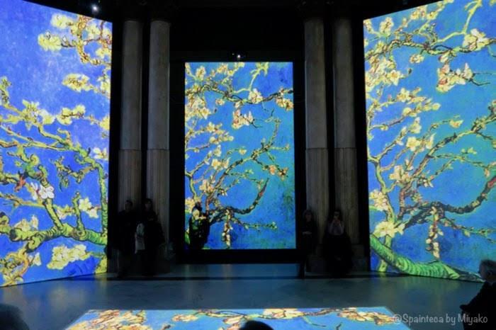 Van Gogh Alive Madrid マドリードの光と音のバーチャルゴッホ展のアーモンドの花