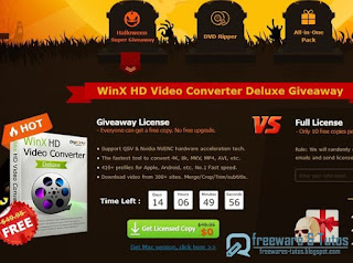 giveaway : WinX HD Video Converter Deluxe for Halloween !