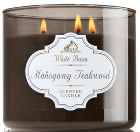 Mahogany Teakwood, White Barn Candle, Bath and Body Works