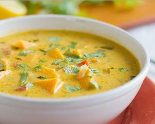 sopa de pimientos rojos y batatas para la psoriasis