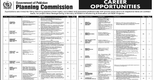 Government Of Pakistan Planning Commission Jobs, Career - Planning Commission, Planning Commission Jobs 2020 | www.pc.gov.pk Application, Planning Commission Jobs 2020 in Pakistan, Planning Commission Jobs 2020 - Federal Govt of Pakistan,