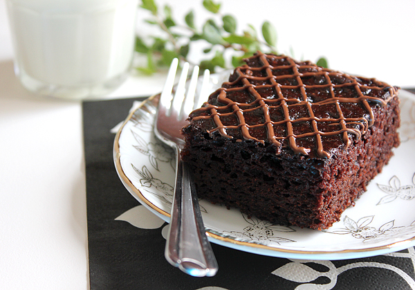 Eggless Nutella Chocolate Cake