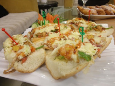 Chicken cheese bread sandwiches By chef shireen anwar