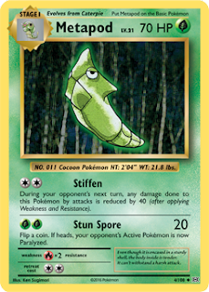 Metapod Evolutions Pokemon Card