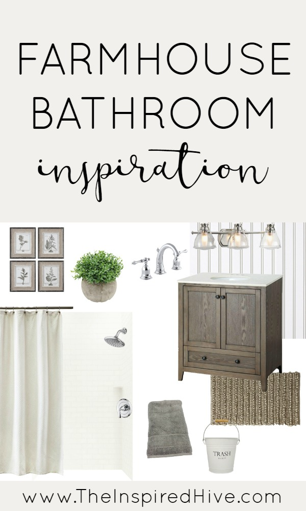 Inspiration Mood Board For A Simple Farmhouse Style Bathroom Makeover Tons Of Ideas And