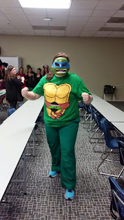 Me dressed as a Ninja turtle