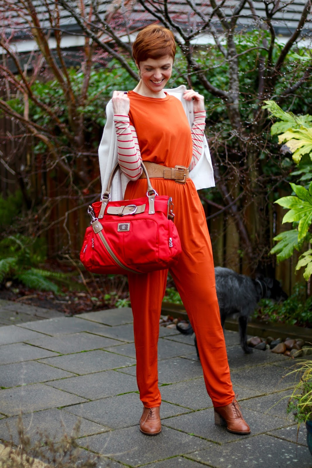 Fake Fabulous | Orange jumpsuit...so wrong it's right!