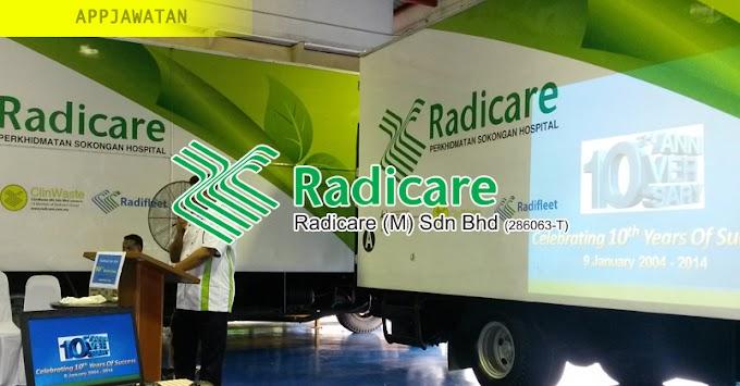 Temuduga Terbuka di Radicare (M) Sdn Bhd - 19 Februari 2019