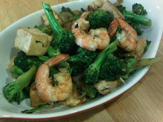 Resep Masakan Brokoli Hijau Untuk Diet Tumis Tofu (Tahu) + Udang dan Cara Masak-nya