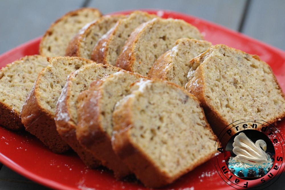 Cake banane noisettes sans gluten