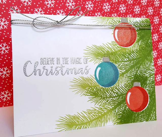 Sunny Studio Stamps: Holiday Style Christmas Card by Andrea Shell