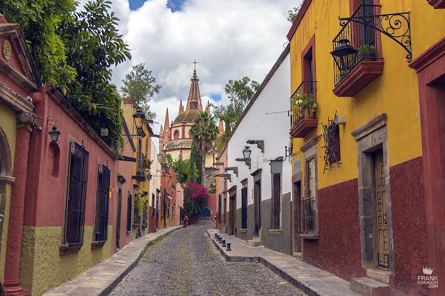 La calle más famosa de San Miguel de Allende Guanajuato