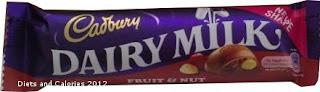 Cadbury Dairy Milk fruit & nut chocolate new style