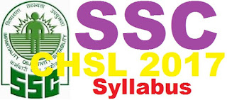 SSC CHSL Syllabus 2017 | SSC Clerical Paper Pattern 2017