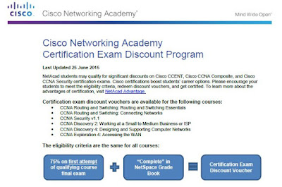 Cisco Networking Academy Certification Exam Discount Program