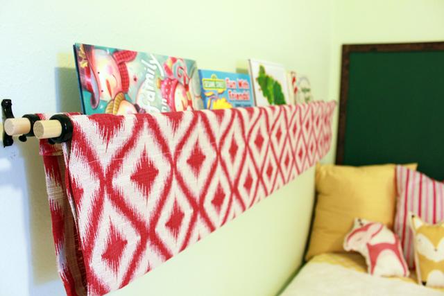 DIY Fabric Bookshelf Gingiber