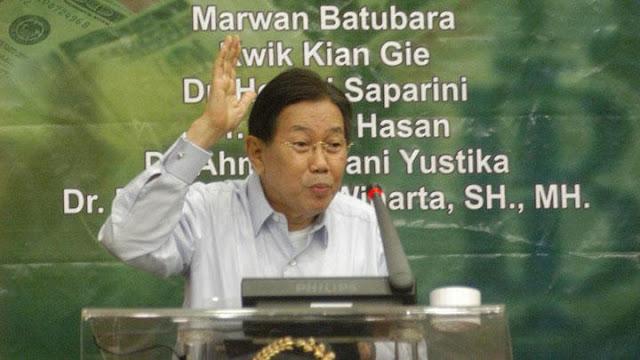 Kwik Kian Gie Bakal Ceramah Ekonomi di Markas Tim Jokowi Hari Ini