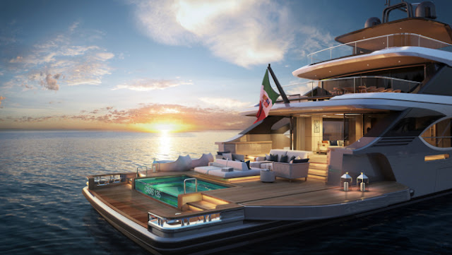 Benetti Offers Wide Open Spaces and an Infinity Pool at Sea