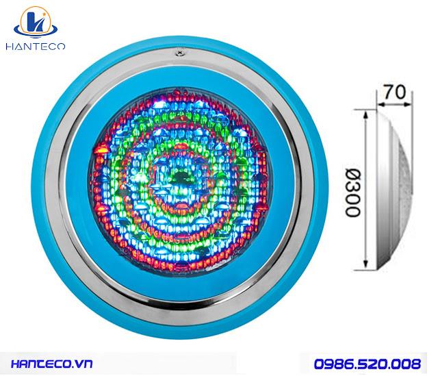 Nghệ thuật chiếu sáng đèn led âm nước dạng bánh xe Den-led-be-boi-doi-mau-12v
