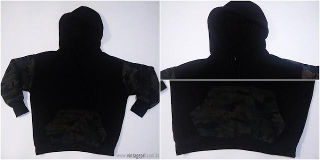 Recebidos Romwe: Camisa Xadrez + Moletom Militar