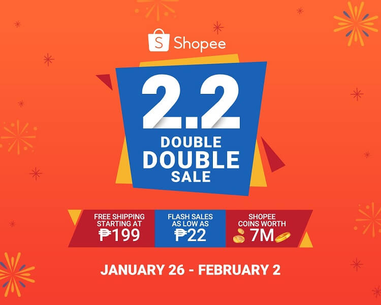 Shopee 2.2 Double Double Sale Launched, Offers up to 90% Off