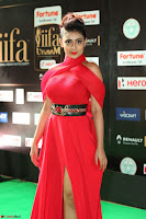 Apoorva in a Stunning Tight Leg Split Sleeveless Red Gown at IIFA Utsavam Awards 018.JPG