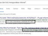 Tips dan Trick Menggunakan Internet