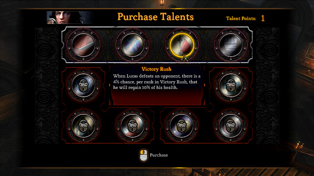 Dungeon Siege III purchase talents screenshot
