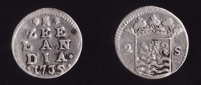 koin hindia belanda zeelandia tahun 1735