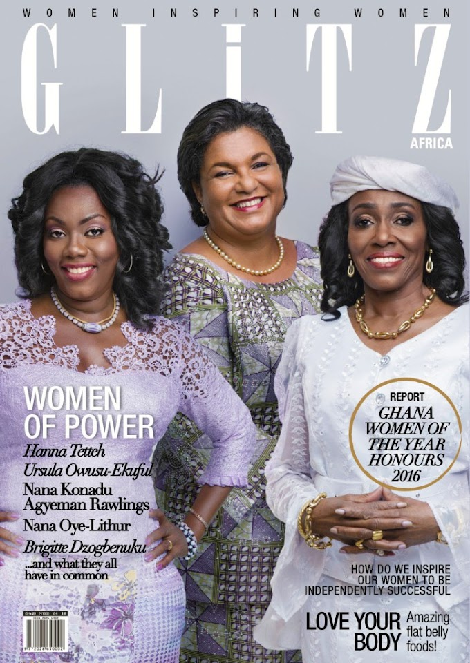 Ursula, Konadu and Hanna Tetteh make 'Women of Power' cover of Glitz Africa Magazine