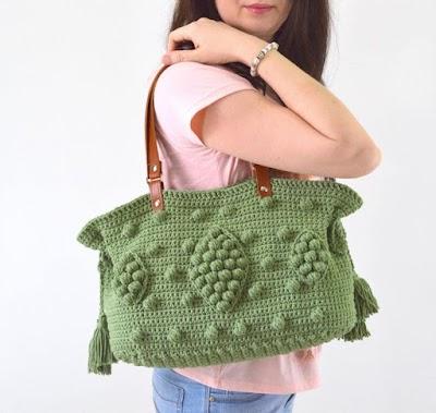 Bolsa en crochet estilo Boho con patrón