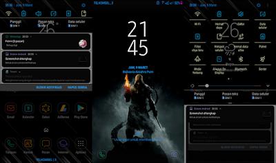 Cara Mengubah Tampilan Notification Panel dan Status Bar di Android Samsung S7 Tanpa Root
