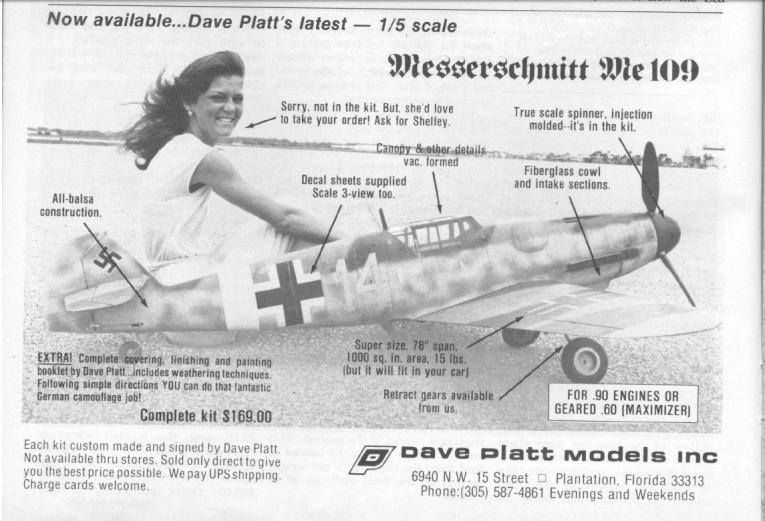 Dave Platt Me109 Bf109 Part 1