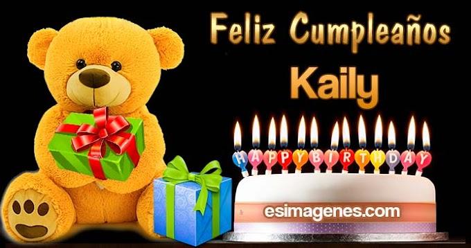 Feliz Cumpleaños Kaily