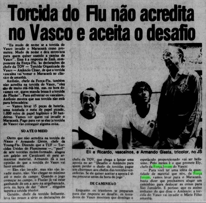 Força Jovem e TOV Jornal dos Sports 1982 857cb82f268c8