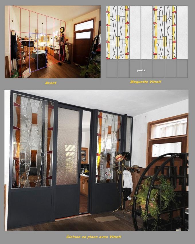 cloison vitrail