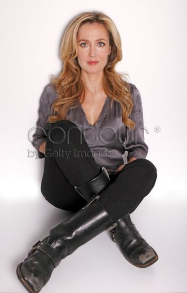 Ladies in Satin Blouses gillian anderson  silver satin