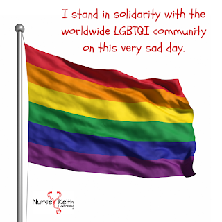 I stand in solidarity with the worldwide LGBTQI community