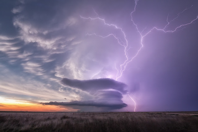 Supercell and Lightning over Kansas