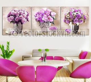 Bông hoa Tranh Dán Tường 3D.
