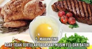 Makan Zinc Agar tidak tertular pada saat musim flu dan batuk